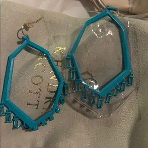 Blue kendra scott earrings